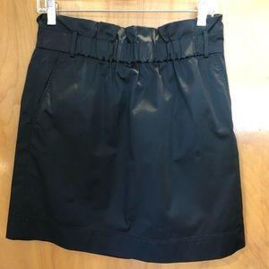Banana Republic black paper bag waist skirt, 6